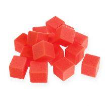 Mokra pianka mini kostki czerwone 300szt