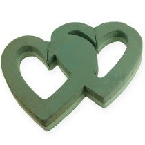 Serce z mokrej pianki podwójne 38cm otwarte