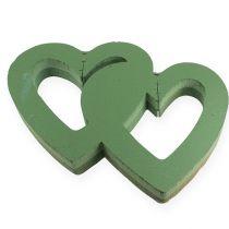 Serce z pianki mokrej podwójne 38 cm otwarte