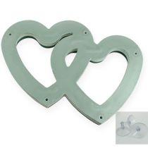 Mokra pianka Duo serce 37 cm z przyssawką 2szt