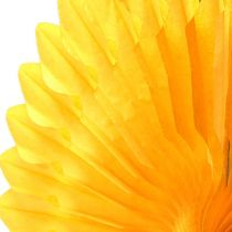 Wieszak na kwiaty o strukturze plastra miodu papier żółty Ø40cm 4szt