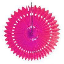 Dekoracja strony plaster miodu papierowy kwiat różowy Ø40cm 4szt
