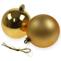 Kula świąteczna złota 10cm 4szt