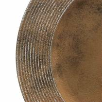 Dekoracyjny plastikowy talerz z efektem rdzy Ø33cm