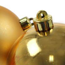 Piłki świąteczne plastikowe złote 8cm 6szt
