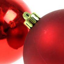 Choinka Piłki Plastikowe Czerwone 8cm 6szt