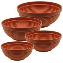 R-bowl plastikowa terakota Ø 13cm - 19cm, 10szt