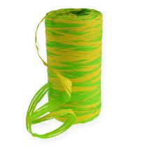 Wstążka Raffia bicolor zielono-żółta 200m