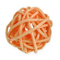 Kula rattanowa pomarańczowa, morelowa, bielona 72szt.