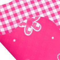Rondella Cuff Vichy Pink Ø50cm 50szt.