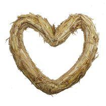 Serce ze słomy maty 33x34 cm