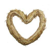 Serce z maty słomianej 22x24cm