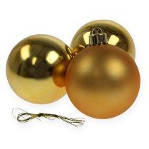 Kula Świąteczna Plastikowa Złota 6cm 12szt