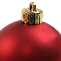 Kula świąteczna plastikowa czerwona Ø6cm 12szt