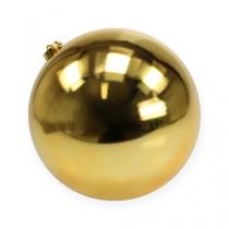 Christmas Ball Medium Gold 20cm Plastik
