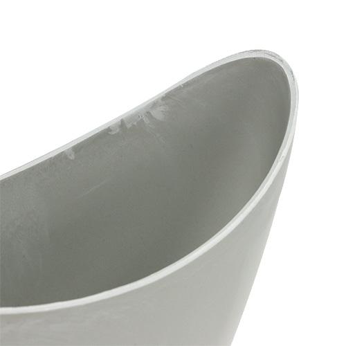 Miska dekoracyjna plastikowa szara 20cm x 9cm H11.5cm, 1szt