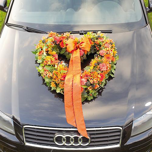 Kwiatowe serce piankowe otwarte kwiatowe zielone 38cm 2szt dekoracja ślubna