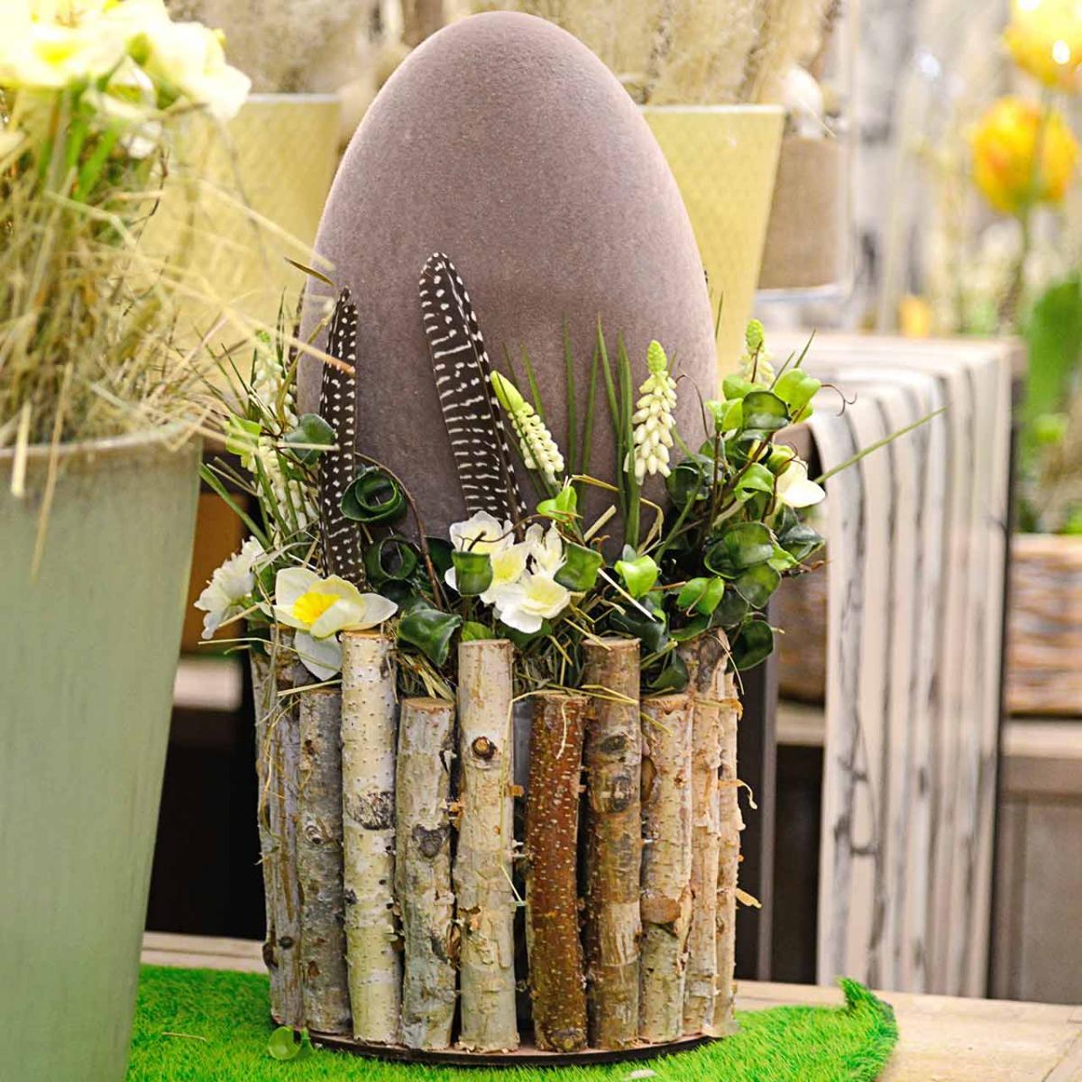Jajko Wielkanocne Flokowane H25cm Kolorowe Jajka Dekoracja Wielkanocna