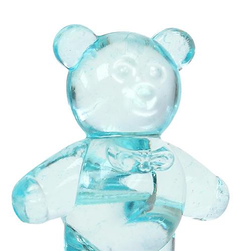 Dekoracja stołu porodowego miś niebieski 3,5cm 60szt