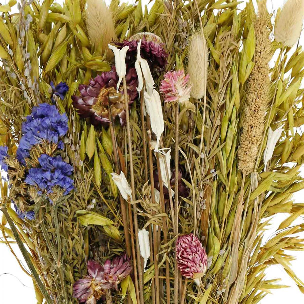 Bukiet suszonych kwiatów Naturalny Różowy 45cm