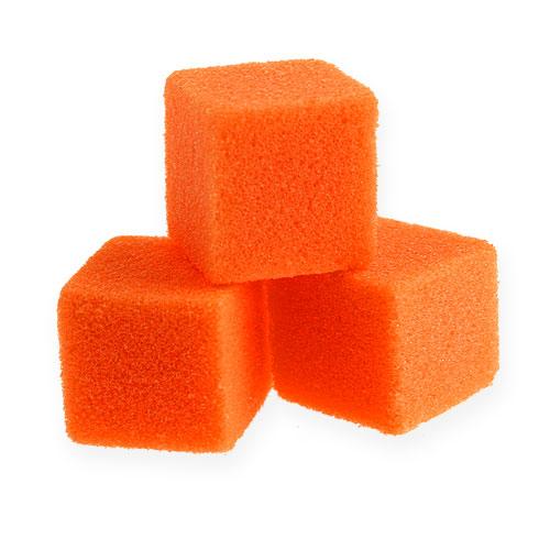 Mokra pianka mini kostki pomarańczowe 300szt