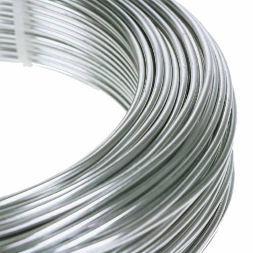 Drut aluminiowy 2mm 1kg srebrny