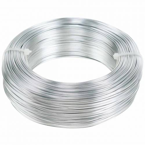 Drut aluminiowy Ø1,0mm srebrny 250g 120m