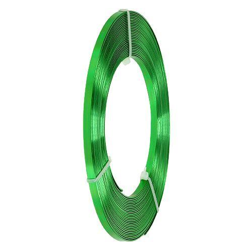 Drut płaski aluminiowy jabłko zielone 5mm 10m