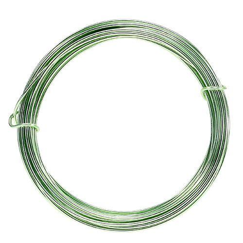 Drut aluminiowy 2mm 100g miętowy zielony