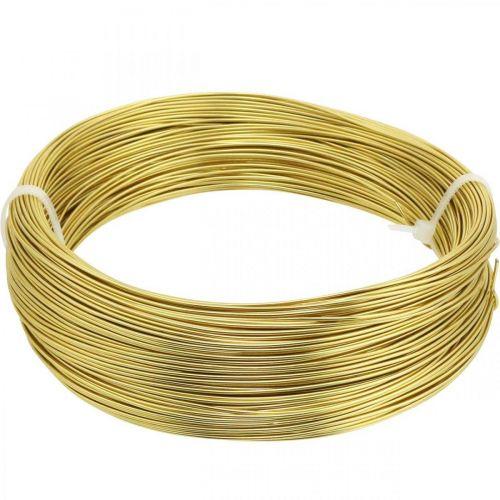 Drut aluminiowy Ø1mm Gold Deco Wire Okrągły 120g