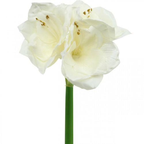 Sztuczny kwiat Amarylis biały Dekoracja świąteczna H40cm