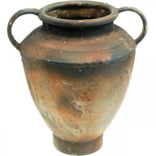 Amfora antyczny wygląd do sadzenia wazon metalowy dekoracja ogrodu H29cm
