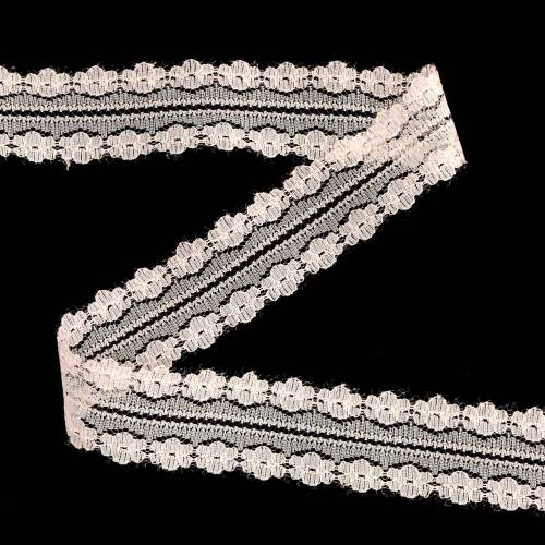 Lace Ribbon Wstążka dekoracyjna różowa 20m 3cm Gift Wrapping