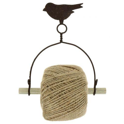 Uchwyt na opaskę ptak do zawieszenia z juty H19cm
