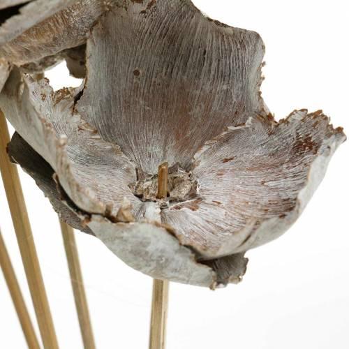 Puchar palmowy na patyku biały myty 25szt.