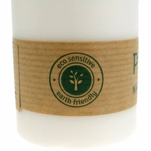 PURE Nature Safe Świeca Filarowa Stearin, Wosk Rzepakowy 90/60mm 1szt Biały
