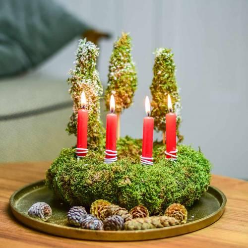 Świeczki na drzewo czerwone 20 szt.