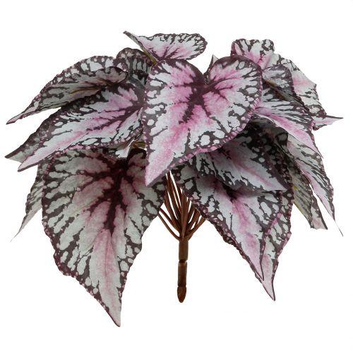 Sztuczny krzew begonii bordowej 37cm
