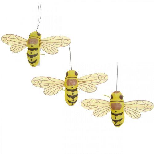 Klamra dekoracyjna pszczoła, dekoracja wiosenna, pszczoła do klamry, dekoracja na prezent 3szt.