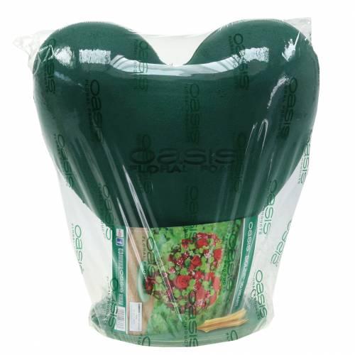 Pianka korkowa 3D serce z masą do zatyczkowania stóp zielona 30cm x 28cm