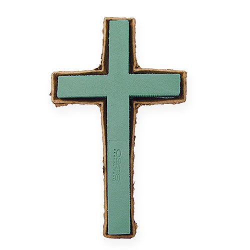 Kwiatowa piankowa krzyż duża zielona biżuteria grobowa 53cm 2szt