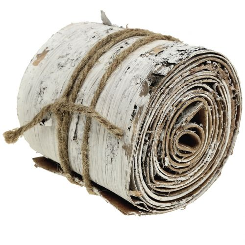 Kora brzozowa w rolce biała prana 10cm x 2,5m