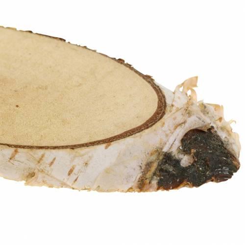 Plastry brzozowe owalne naturalne 4×8cm 1kg do dekoracji