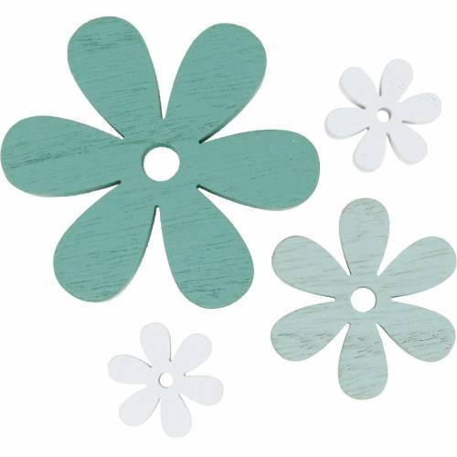 Streudeko blossom zielone, miętowe, białe kwiaty do rozsypania 29szt