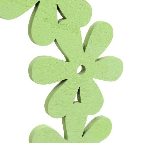 Wieniec kwiatowy drewniany zielony Ø35cm 1szt.