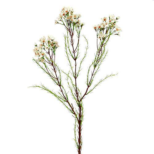 Gałązka kwitnąca zielona, biała 80cm 3szt.