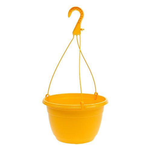 Kosz na kwiaty 25 cm żółty