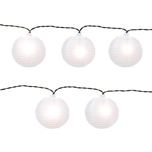 Lampiony chińskie z 20 diodami LED białymi 9,5 m