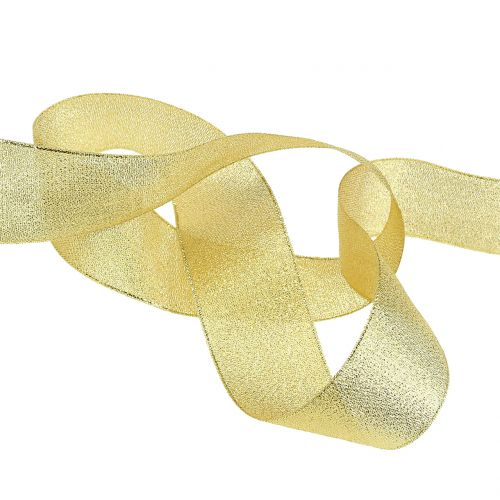 Wstążka Deco złota różne szerokości 22,5m