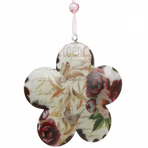 Kwiat dekoracyjny do powieszenia peonie nostalgiczne metalowa dekoracja wiosenna 4szt.